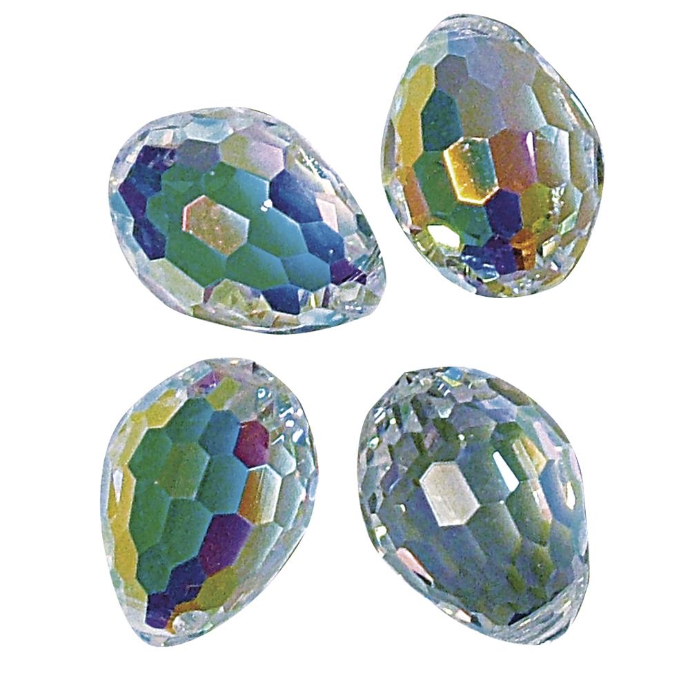 Swarovski Kristall-Perltropfen, 10x7 mm, Dose 2 Stück, mondstein