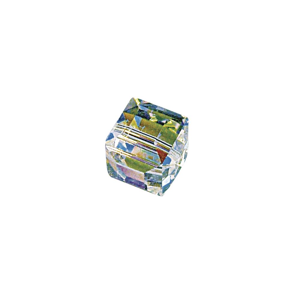 Swarovski Kristall-Würfel, 8 mm, Dose 2 Stück, mondstein