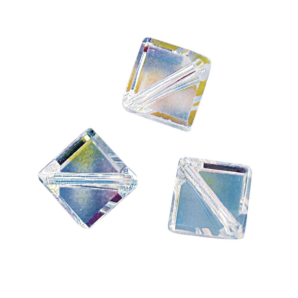 Swarovski Kristall-X-Würfel, 6 mm, Dose 4 Stück, mondstein