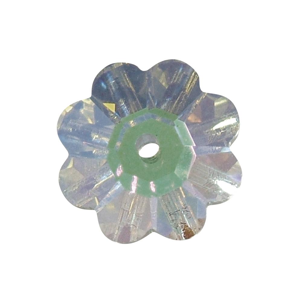 Swarovski Kristall-Blüte, 10 mm, Dose 5 Stück, 1 Loch
