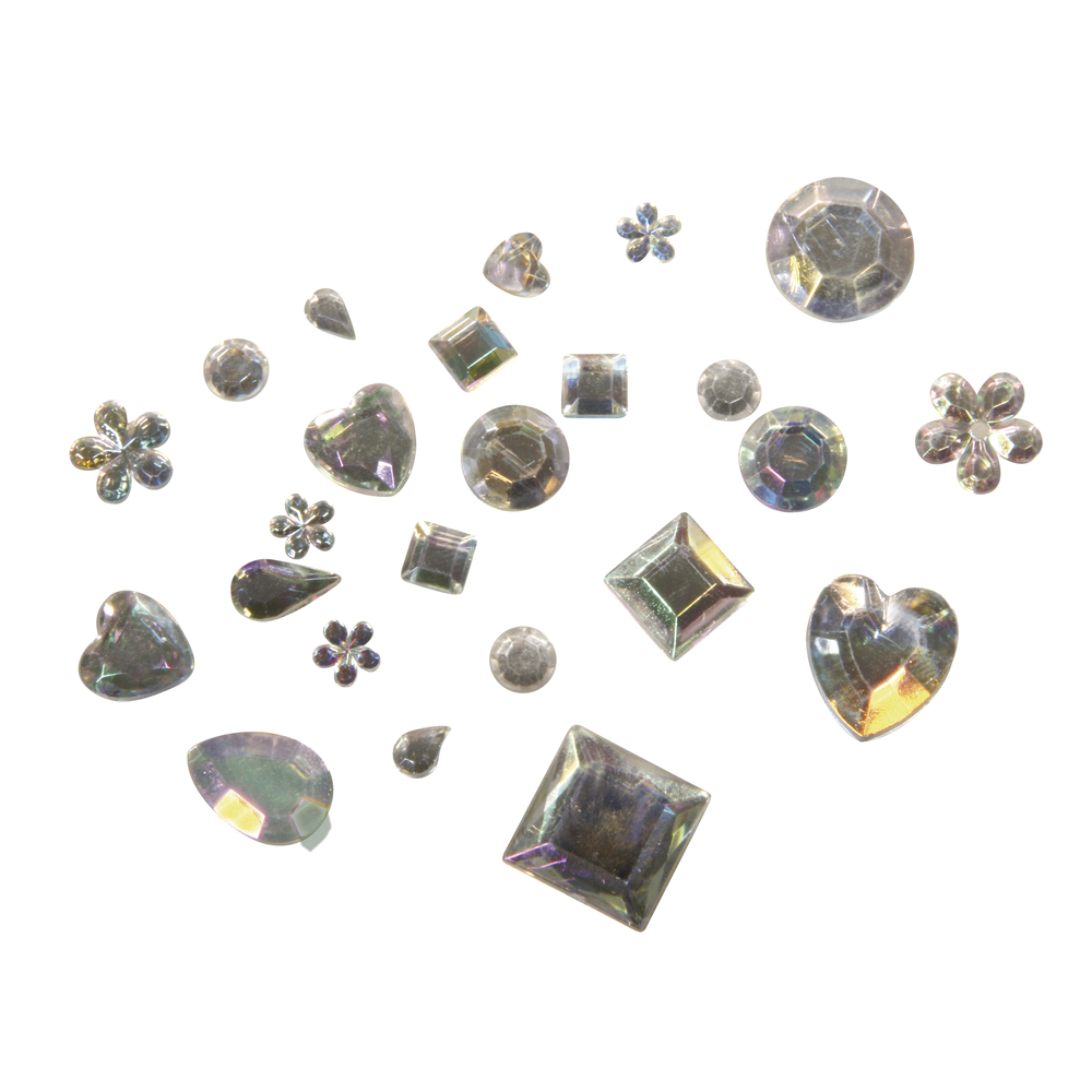 Acryl-Strass-Mix, versch. Formen, 5-14mm, SB-Btl 1000Stück