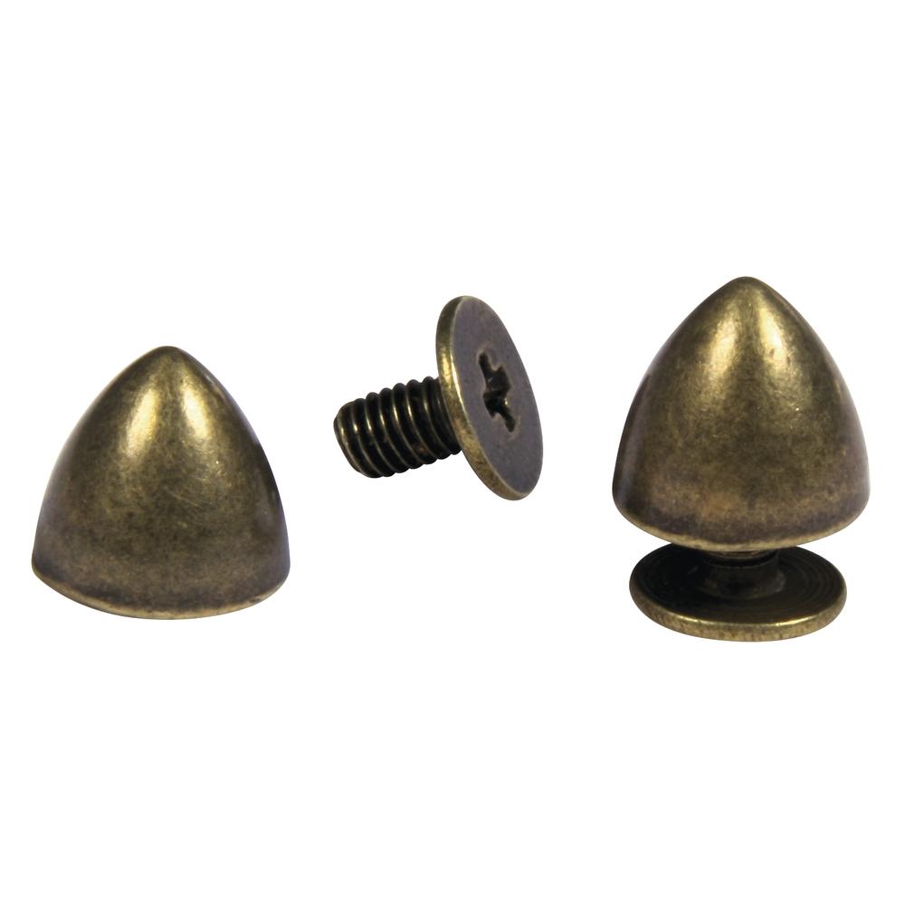 Metall Nieten, 8mm ø, m. Schraubverschluss, Beutel 2Stück, gold