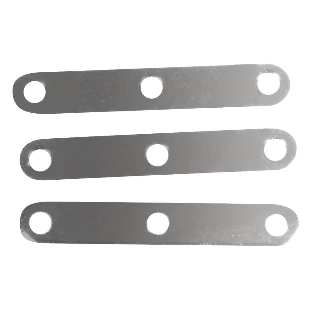 Zwischenstück 3 Loch, 2cm, SB-Btl 10Stück, silber