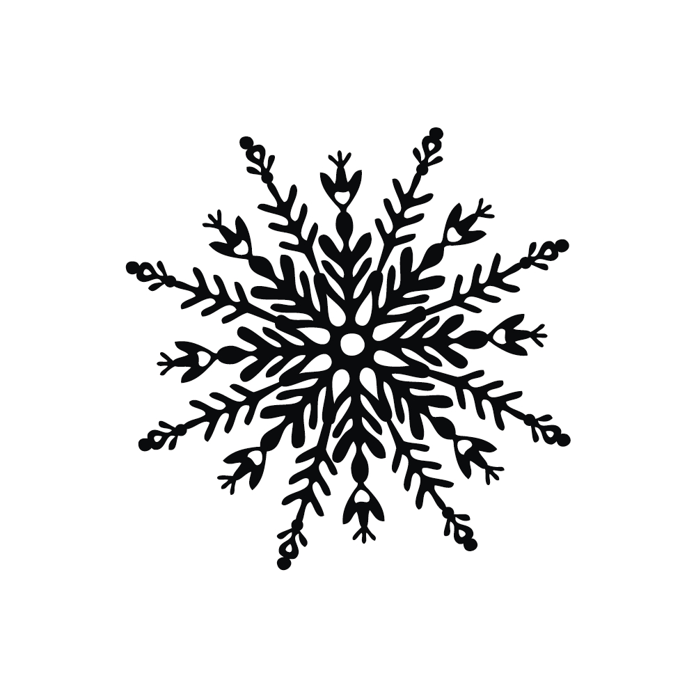 Stempel Schneeflocke, 6x6cm
