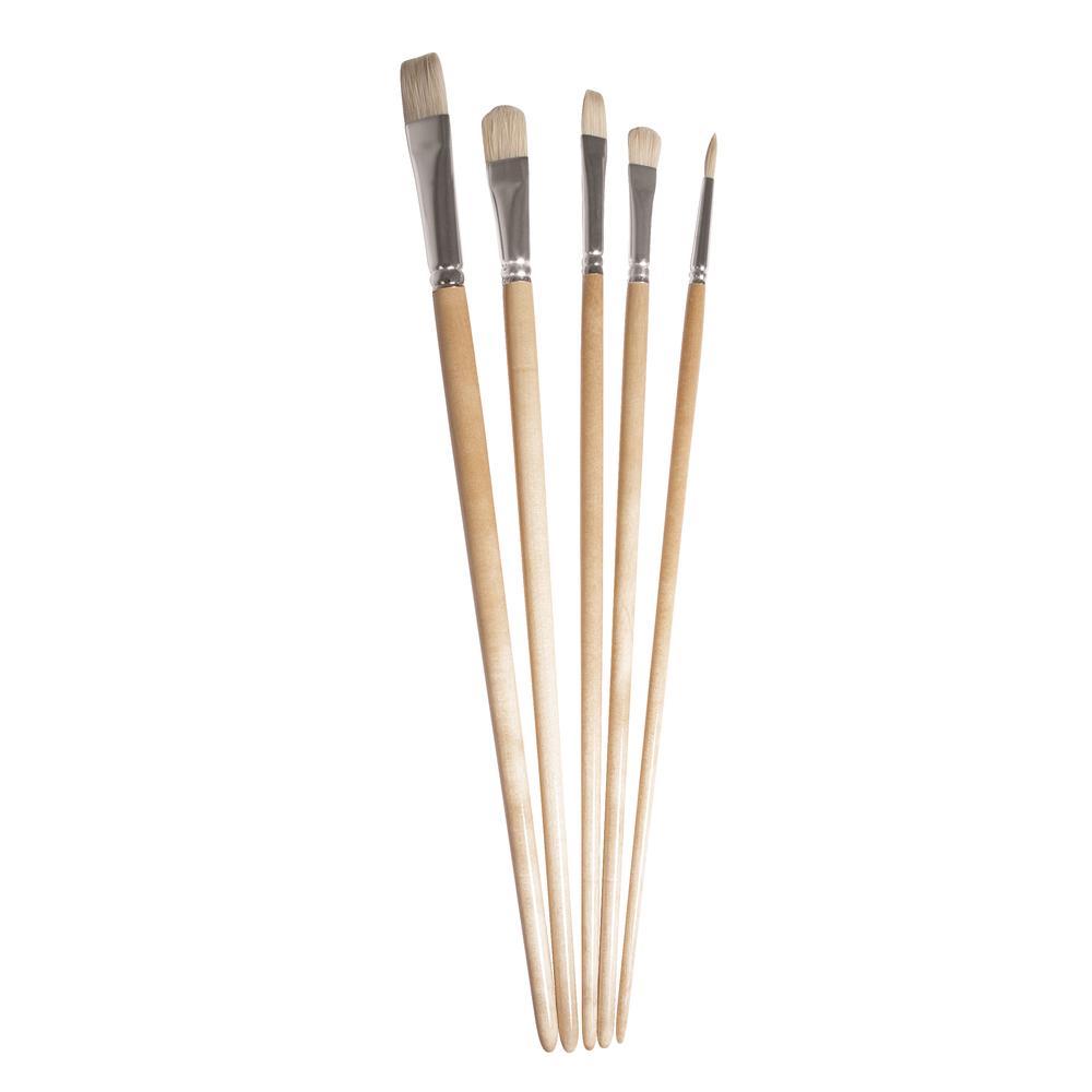 Pinselset Art, sortiert, FSC 100%, Borste langstielig, SB-Btl 5Stück