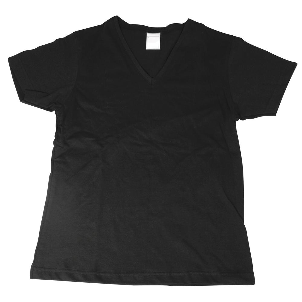 Baumwoll T-Shirt Größe L, Single-Jersey, 155 g/m2, schwarz