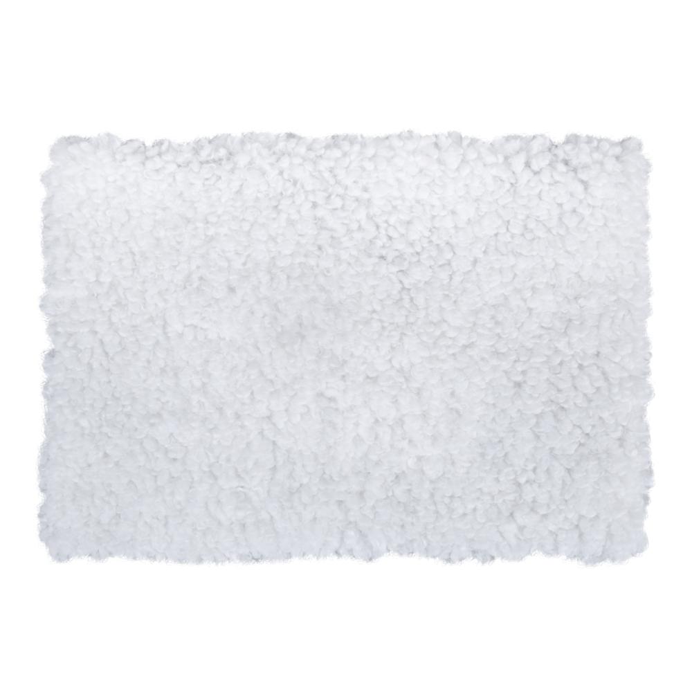 Teddy Plüschstoff, 50x35cm, 600g/m², 1Stück, weiß