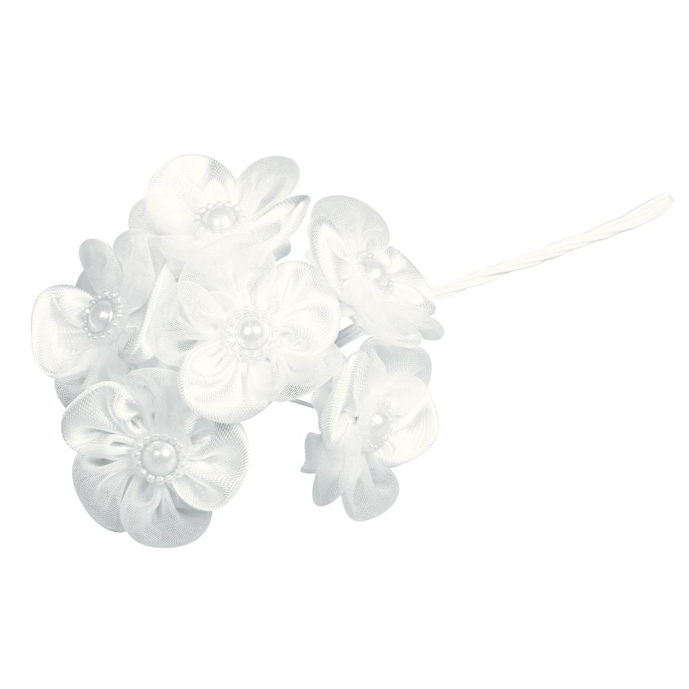 Satin Organza Blüten Bouquet