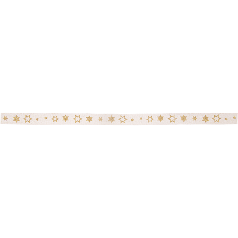 Dekoband Glitzersternchen, 10mm, Rolle 20m