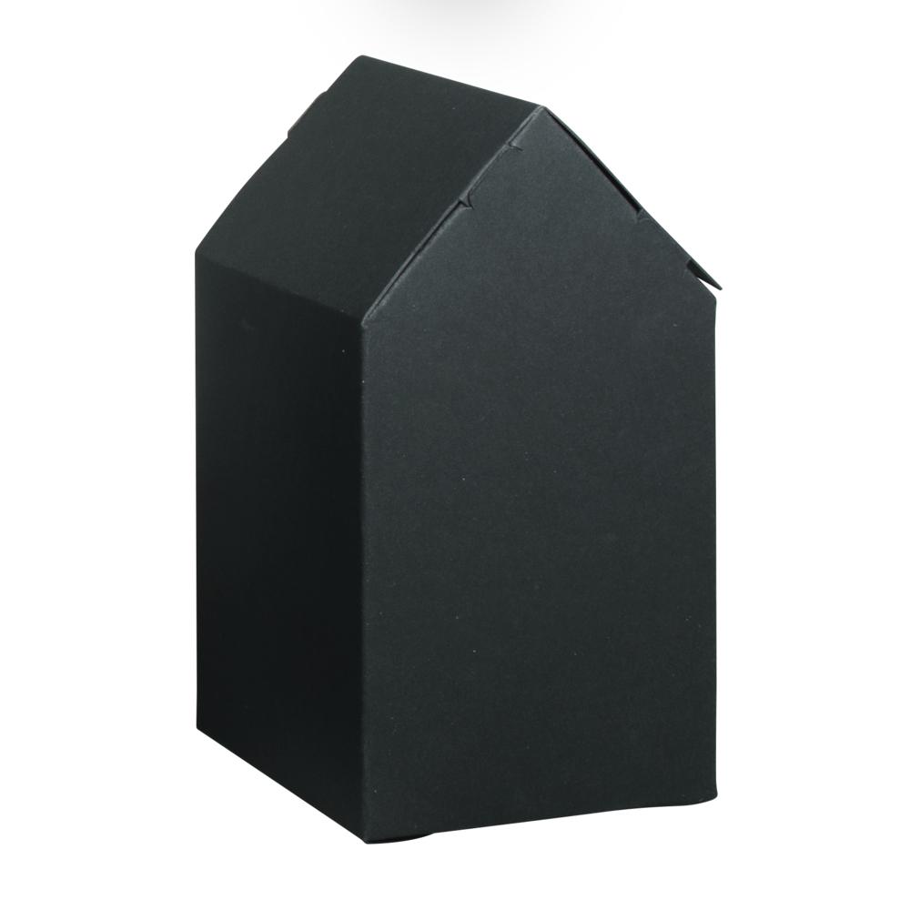 Faltschachtel Haus, 7,5x7,5x14cm, Set 6Stück, schwarz