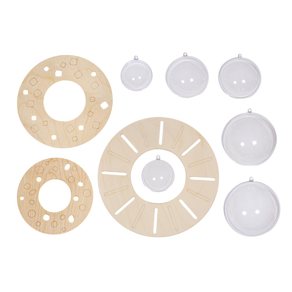 Bastelpackung: Ufos, FSC Mix Credit, ø14cm,18cm&22cm, 6-teilig, SB-Box 1Set